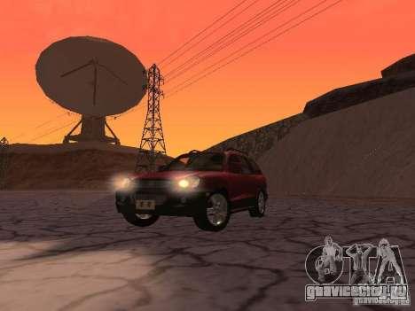 Hyundai Santa Fe Classic для GTA San Andreas вид сзади