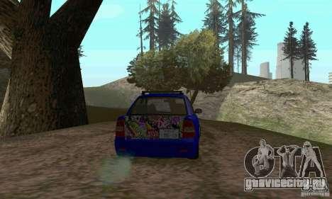 ВАЗ 2170 JDM для GTA San Andreas вид изнутри