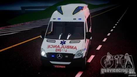 Mercedes-Benz Sprinter Iranian Ambulance [ELS] для GTA 4 вид снизу