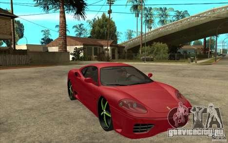Ferrari 360 Modena для GTA San Andreas вид сзади