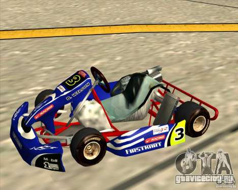 Shifter kart Honda CR 125 для GTA San Andreas вид сзади слева