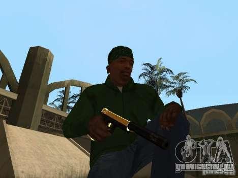 Пак золотого оружия для GTA San Andreas пятый скриншот