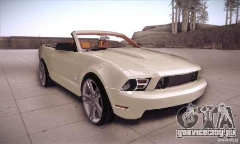 Ford Mustang 2011 Convertible для GTA San Andreas вид сзади