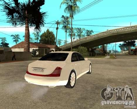 Maybach 57 S для GTA San Andreas вид сзади слева