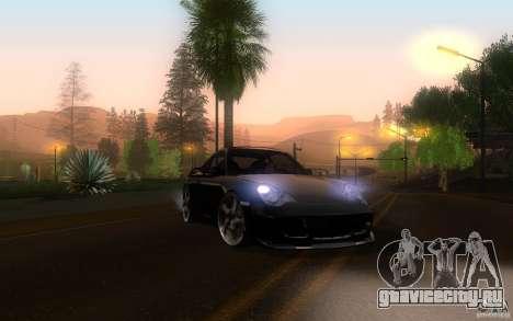 Ruf R-Turbo для GTA San Andreas вид изнутри