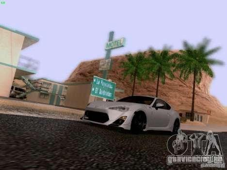 Toyota 86 TRDPerformanceLine 2012 для GTA San Andreas вид сверху