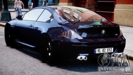 BMW M6 Orange-Black Bullet для GTA 4 вид справа