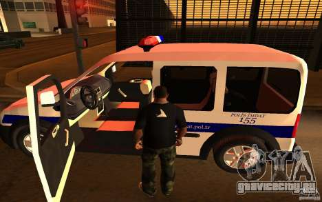 Ford Transit Connect Turkish Police для GTA San Andreas вид справа