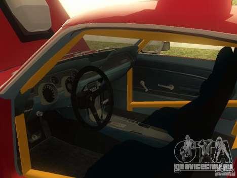 Ford Mustang 1967 GT Tuned для GTA San Andreas вид изнутри