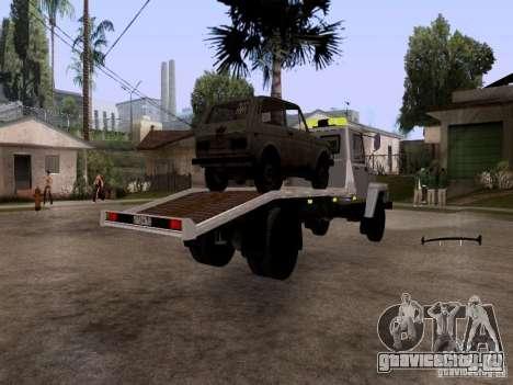ГАЗ 3309 Эвакуатор для GTA San Andreas вид сзади слева