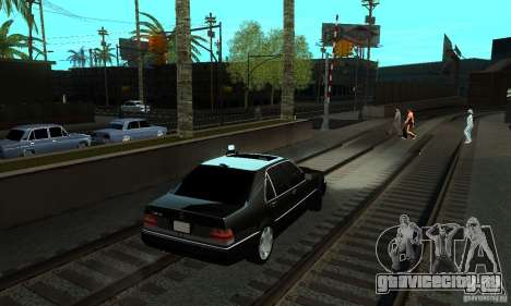 Mercedes-Benz 400 SE w140 Deputat Style для GTA San Andreas вид сзади слева