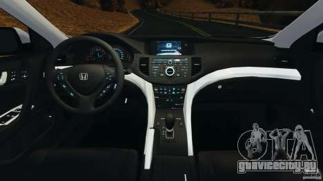 Honda Accord Type S 2008 для GTA 4 вид сзади