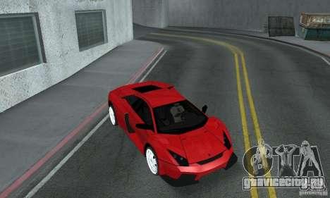 Lamborghini Murcielago Tuned для GTA San Andreas вид изнутри