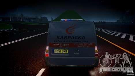 Ford Transit Usluga polski gazu [ELS] для GTA 4 вид снизу