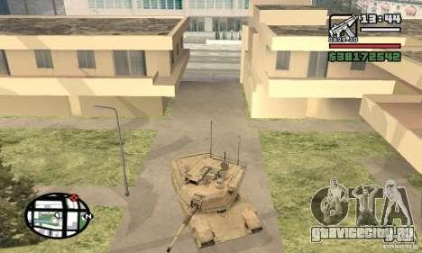 M1A2 Abrams TUSK для GTA San Andreas вид сзади