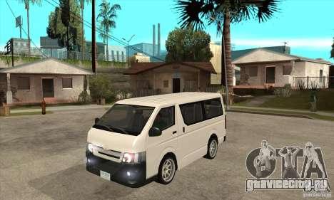 Toyota Hiace для GTA San Andreas