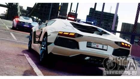 Lamborghini Aventador LP700-4 Dubai Police v1.0 для GTA 4 вид справа
