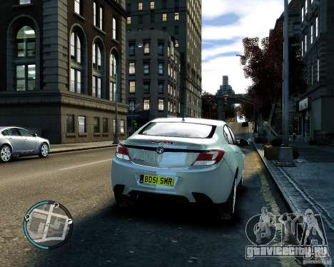 Vauxhall Insignia v1.0 для GTA 4 вид изнутри