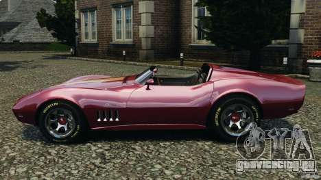 Chevrolet Corvette Sting Ray 1970 Custom для GTA 4 вид слева
