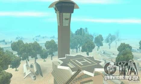 Обновлённый заброшенный аэропорт в пустыне для GTA San Andreas второй скриншот