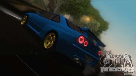 Nissan Skyline GTR-34 для GTA San Andreas вид сверху