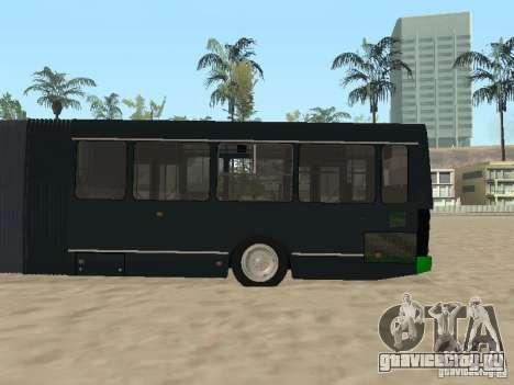Прицеп для ЛиАЗ 6212 для GTA San Andreas вид сзади