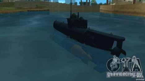 Seehund Midget Submarine skin 2 для GTA Vice City вид сзади слева