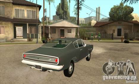 Plymouth Barracuda Formula S 383 1968 для GTA San Andreas вид справа