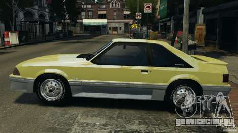 Ford Mustang GT 1993 v1.1 для GTA 4 вид слева