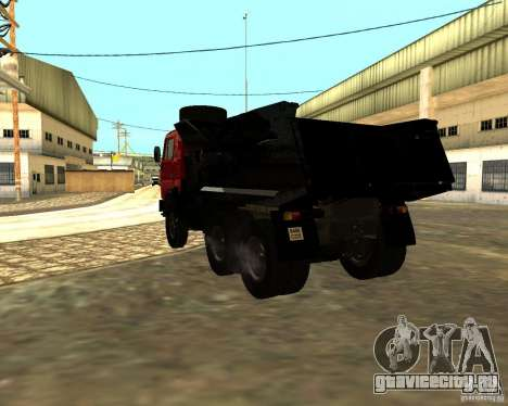 КамАЗ 55111 для GTA San Andreas вид сзади слева