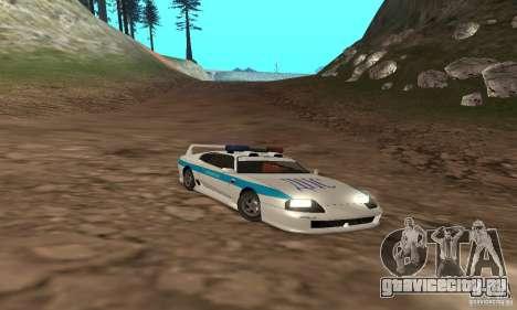 Jester Russian Police для GTA San Andreas вид сверху
