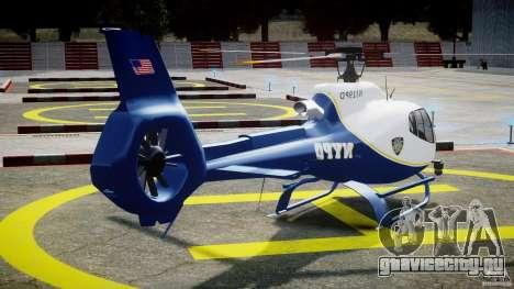 Eurocopter EC 130 NYPD для GTA 4 вид сбоку