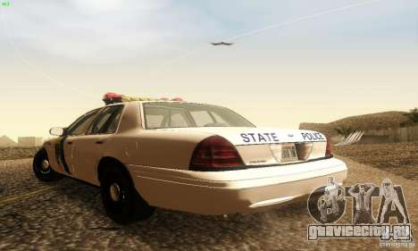 Ford Crown Victoria New Jersey Police для GTA San Andreas вид слева