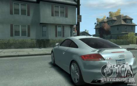 Audi TT-RS для GTA 4 вид сзади слева