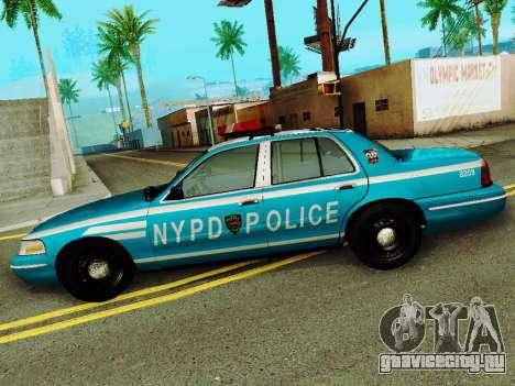 Ford Crown Victoria 2003 NYPD Blue для GTA San Andreas вид слева