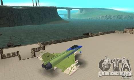 Eurofighter 2010 для GTA San Andreas вид сзади слева