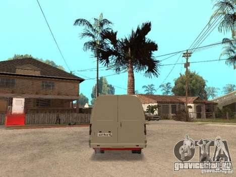 ГАЗель 2705 для GTA San Andreas вид изнутри