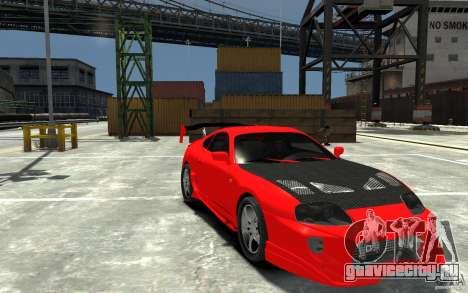 Toyota Supra Black Tuning для GTA 4 вид сзади