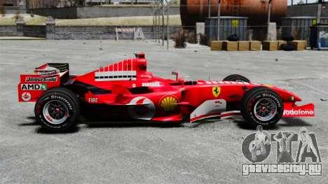 Ferrari F2005 для GTA 4 вид слева