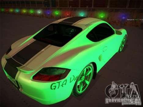 Porsche Cayman S Snow для GTA San Andreas вид слева