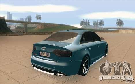 Audi S4 2009 для GTA San Andreas вид сбоку