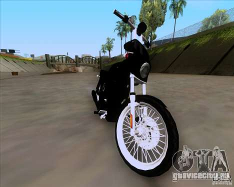 Harley Davidson FXD Super Glide для GTA San Andreas вид сзади слева