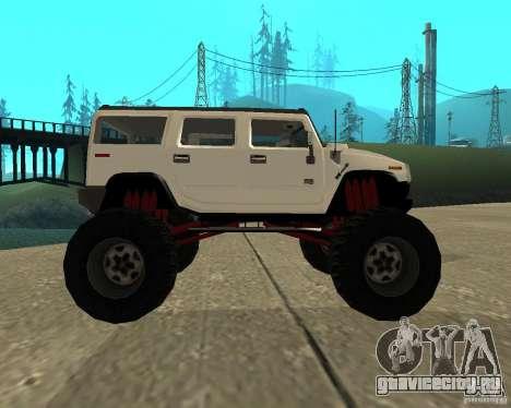 Hummer H2 MONSTER для GTA San Andreas вид слева