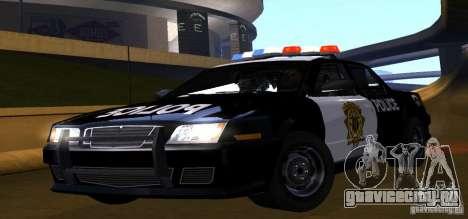NFS Undercover Police Car для GTA San Andreas вид сзади слева
