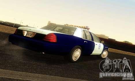 Ford Crown Victoria Masachussttss Police для GTA San Andreas вид слева