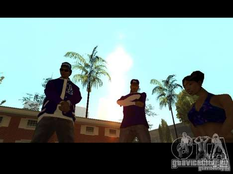 Piru Street Crips для GTA San Andreas девятый скриншот