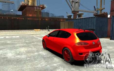Seat Leon Cupra Light Tuning для GTA 4 вид сзади слева