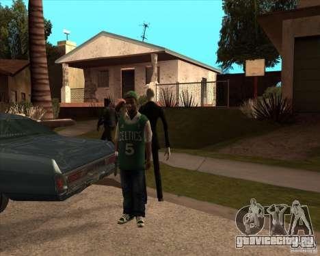 Слендер в темных очках для GTA San Andreas второй скриншот