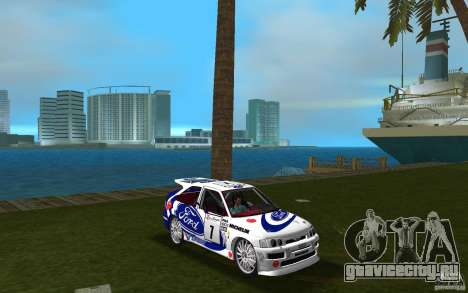 Ford Escort Cosworth RS для GTA Vice City вид сзади
