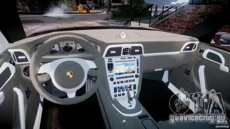 Porsche 911 (997) Turbo v1.0 для GTA 4 вид изнутри